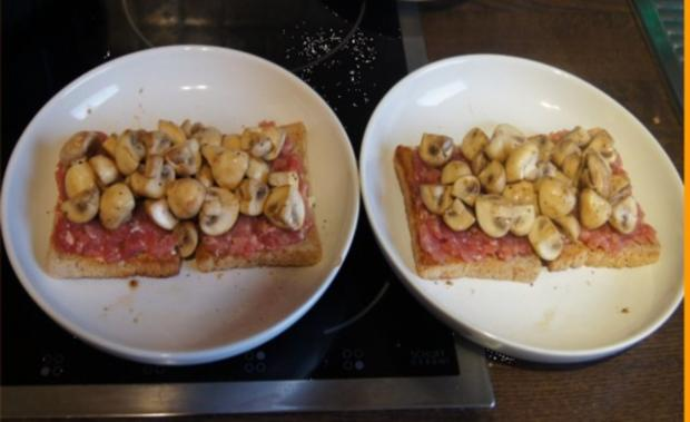 Schinkenmett-Champignon-Toast - Rezept - Bild Nr. 6