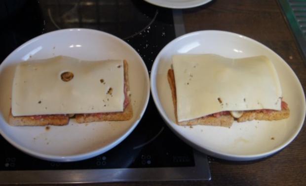 Schinkenmett-Champignon-Toast - Rezept - Bild Nr. 7