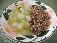 Kohlrabi - Lauch - Gemüse mit rot - weißem Quinoa - Rezept