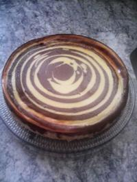 Zebra-Quark-Kuchen - Rezept