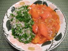 Petersilien - Reis mit Paprika - Gulasch - Rezept