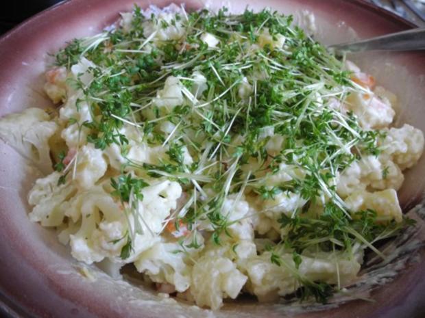 Kartoffelsalat mit Budwig-Quark, Schafskäse und Kresse - Rezept - Bild Nr. 12