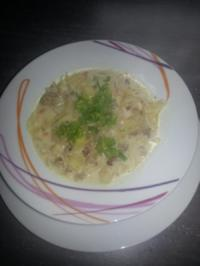 Rezept: Hackfleisch-Käse-Kohlsuppe