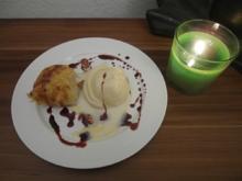 Gebackener Ziegenkäse an vergoldetem Eis - Rezept