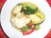 Käseschwemmklößchen in Gemüseeintopf - Rezept