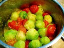 Rosenkohl mit Kirschtomaten - Rezept