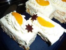 Torten: Pfirsich-Sahneschnitten - Rezept