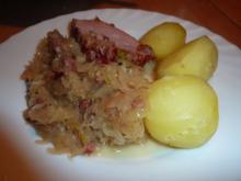 FL/Schwein: Sauerkraut mit Kasseler - Rezept