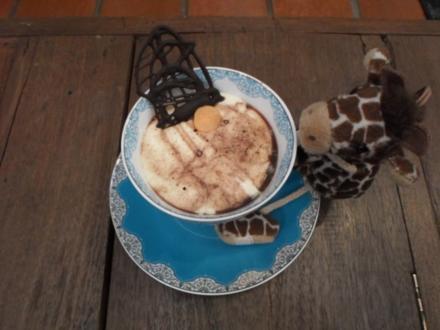 """Gaffende Giraffe"" - Mascarpone-Crème mit Brownies - Rezept"