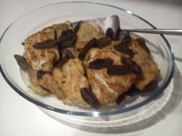Rezept: Fischfilet mit frittierten Salbeiblättern