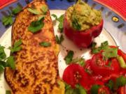 Paprika-Chili-Pfannkuchen mit Guacamole - Rezept