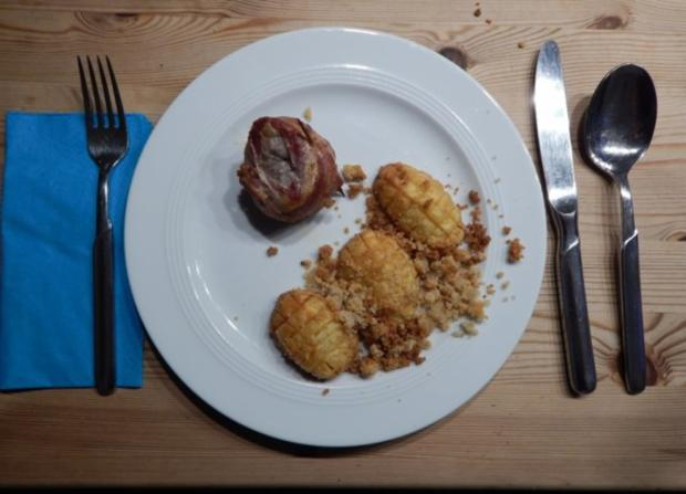 Schweinefilet im Speckmantel mit Kartoffeln - Rezept - Bild Nr. 7