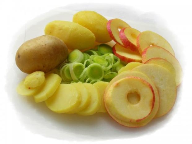 Fischfilet im Apfel-Kartoffelbett mit Curryhaube - Rezept - Bild Nr. 5