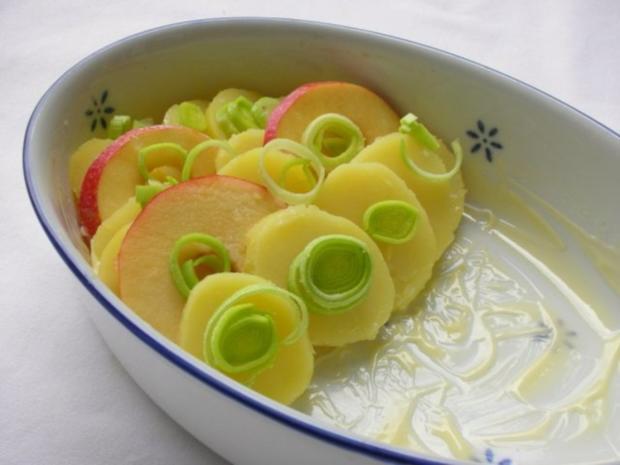 Fischfilet im Apfel-Kartoffelbett mit Curryhaube - Rezept - Bild Nr. 6
