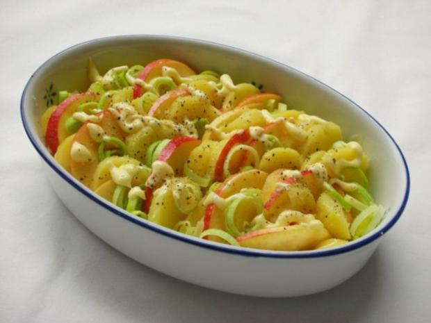Fischfilet im Apfel-Kartoffelbett mit Curryhaube - Rezept - Bild Nr. 8