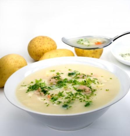 Kartoffelsuppe mit Schinken - Rezept
