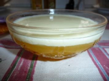Orangenpudding mit Vanillesoße - Rezept