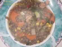 Suppen u. Eintöpfe: Linseneintopf mit Schweinefleisch - Rezept