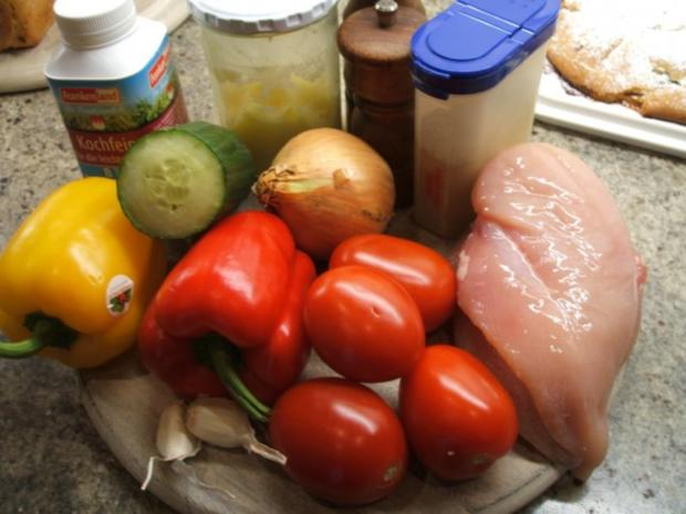 Geflügel: Hähnchen-Geschnetzeltes in Schmorgemüse mit Kräuter-Butter-Reis - Rezept - Bild Nr. 2