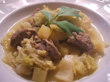 Suppen: WWW - Weißkohl, Wirsing, Wruken mit Lammfleisch - Rezept