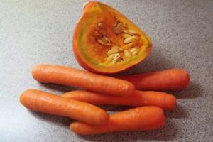 Kochen: Scharfe Möhren-Kürbis-Suppe, püriert - Rezept