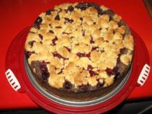 Mohn - Kirsch - Kuchen mit Streusel - Rezept