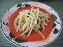 Petersilien - Makkaroni auf Tomaten - Paprika - Sauce - Rezept