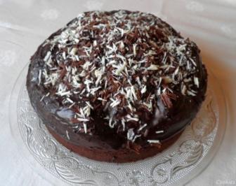 Rezept: Kleiner Schokoladen - Birnen - Kuchen