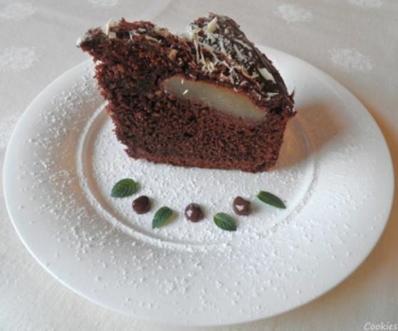 Kleiner Schokoladen - Birnen - Kuchen - Rezept - Bild Nr. 3
