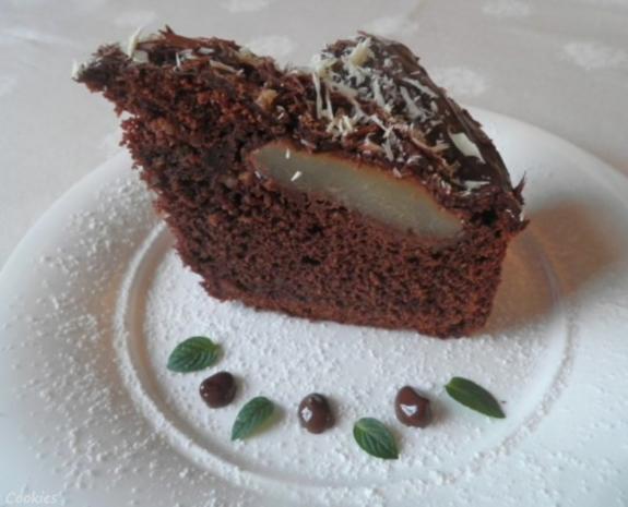 Kleiner Schokoladen - Birnen - Kuchen - Rezept - Bild Nr. 2