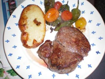 Fleisch: Angusfilet und Angussteak mit Backkartoffeln - Rezept