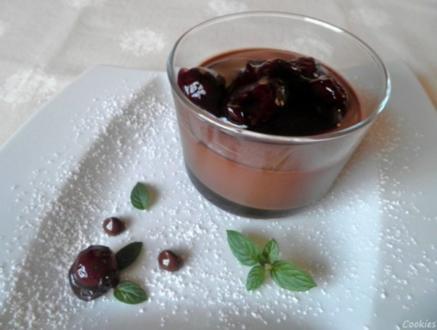 Schnelles Schokoladen - Kirsch - Dessert - Rezept