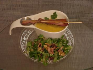 Sächsische Kartoffelsuppe mit Feldsalat - Rezept