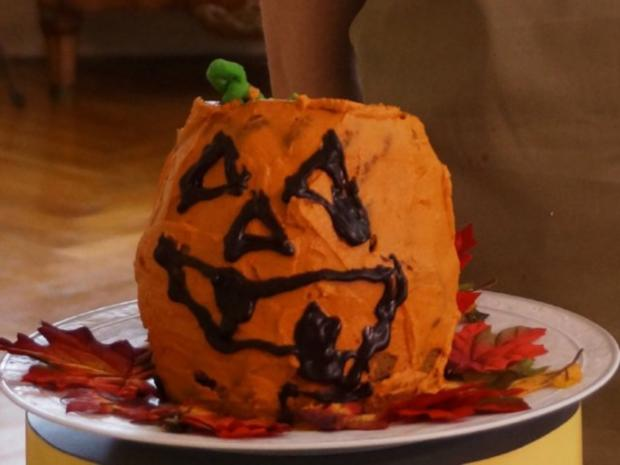 """3-D Halloween Kürbiskopf"" - Rezept"