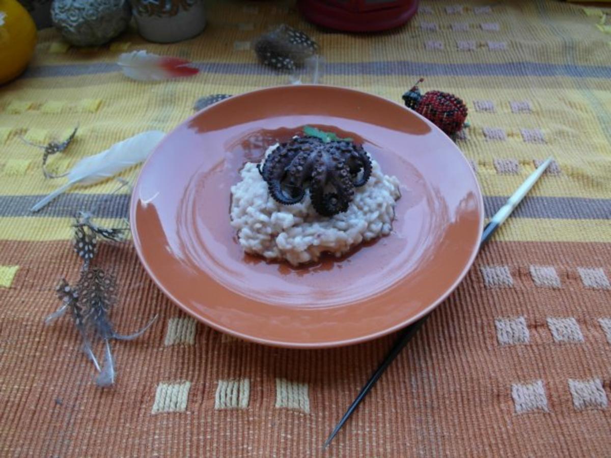 baby oktopus risotto rezept mit bild. Black Bedroom Furniture Sets. Home Design Ideas