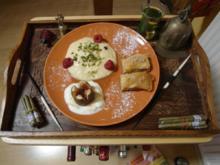 Orientalische Süßigkeitenplatte mit frischem Minztee - Rezept