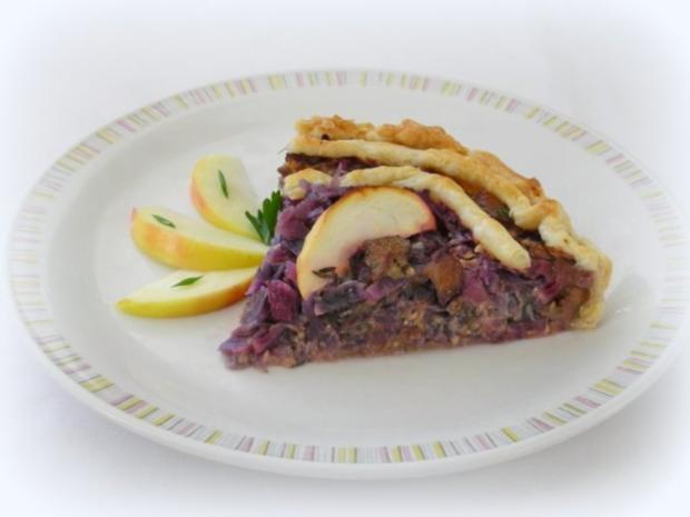 Rotkraut Kuchen mit Entenfleisch - Rezept - Bild Nr. 3