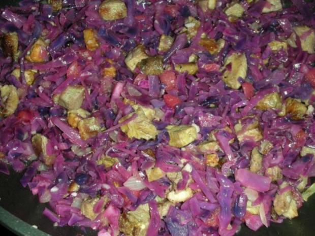 Rotkraut Kuchen mit Entenfleisch - Rezept - Bild Nr. 16