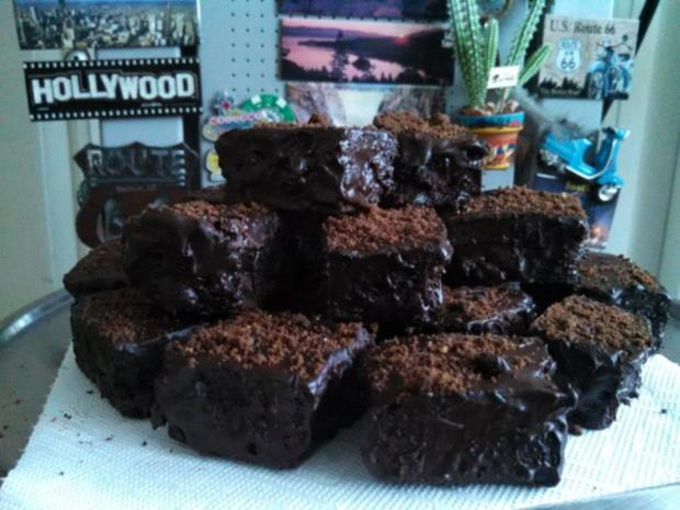 American Double Choco Brownies - Rezept