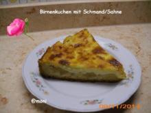 Birnenkuchen mit Schmand+Sahne (2. Variante) - Rezept