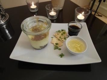 Rezept: Cheesecake mit Zitronensorbet und Meringue