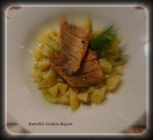 Gurken-Kartoffel-Ragout mit kross gebratenem Zanderfilet - Rezept - Bild Nr. 5