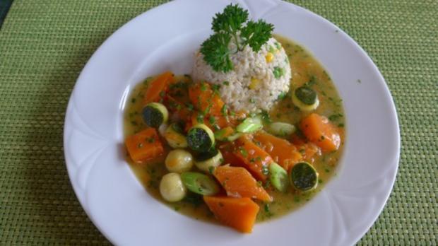 Geschwenktes Gemüse an gemischtem Reis - Rezept - Bild Nr. 2
