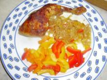 Hähnchenschenkel im Paprika-Zwiebel-Riesling-Sud - Rezept