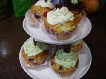 Kleine Kuchen: Heidelbeermuffins mit Topping - Rezept