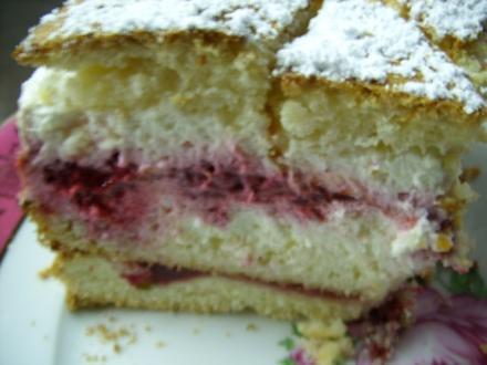 Quark-Joghurt-Torte mit Himbeeren - Rezept