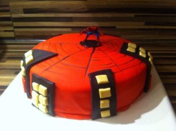 Spiderman Torte - Rezept