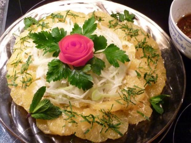 Orangen- Fenchel Salat mit Ingwer- Honig  Dressing - Rezept - Bild Nr. 6