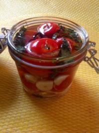 eingelegte gefüllte Tomaten - Rezept