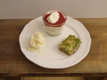 Baklava mit türkischem Kaffee, Beeren-Mascarpone-Träumchen, Pina-Colada-Eis - Rezept